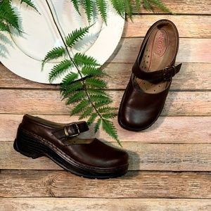 KLOGS Mules Brown Leather Clogs Slip On Comfort 6